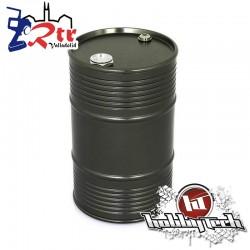 Tambor de aceite aluminio grande gris oscuro HobbyTech