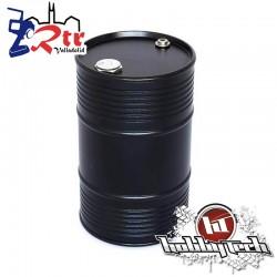 Tambor de aceite aluminio grande Negro HobbyTech