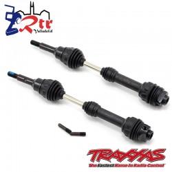 Arboles de transmisión delanteros acero velocidad constante Traxxas TRA6851R