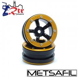 Llantas 1.9 beadlock Metsafil PT-Safari Negro/Oro (2 Unidades)