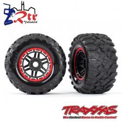 Ruedas Maxx All Terrain 17mm Traxxas Rojo TRA8972R