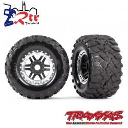 Ruedas Maxx All Terrain 17mm Traxxas Plata TRA8972X