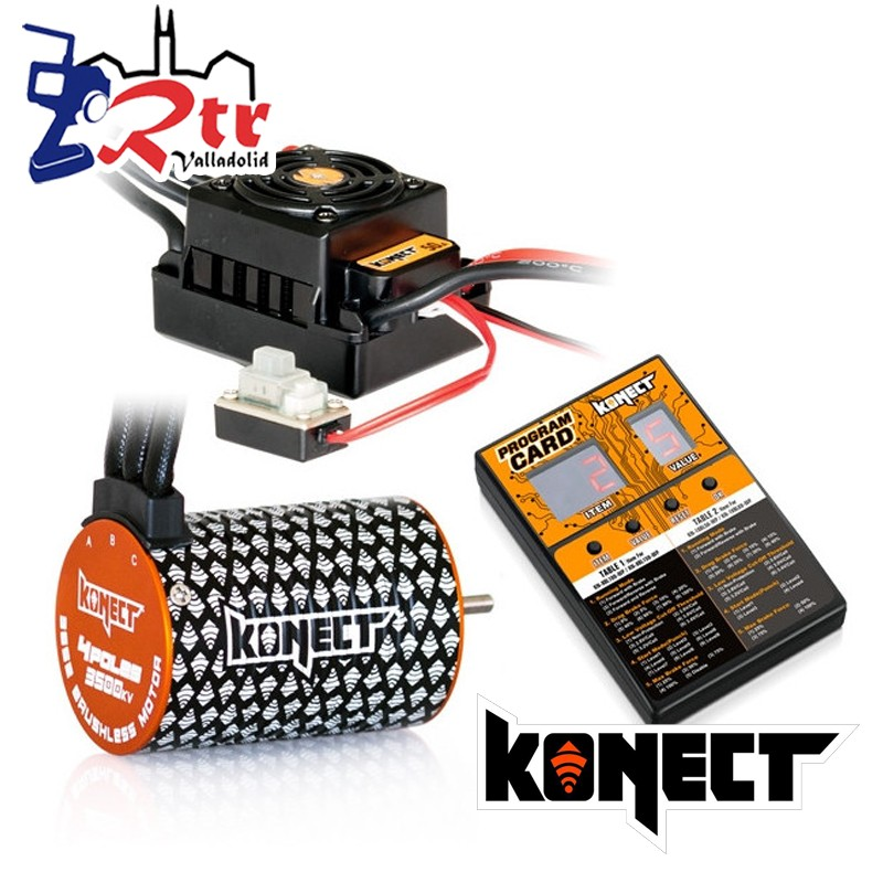 Brushless Waterproft 1/10 50A Motor 3652SL/4000Kv + Tarjeta Programadora Combo