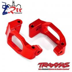 Bloques de ruedas, izquierda y derecha Aluminio Rojos Traxxas TRA8932R