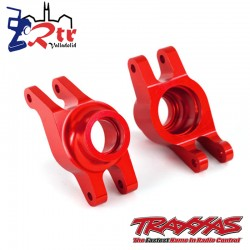 Portadores eje de muñón izquierda y derecha Aluminio Rojos Maxx TRA8952R