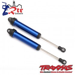 Amortiguadores GTR 160mm aluminio Azul  Traxxas TRA8461X
