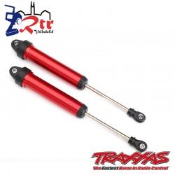 Amortiguadores GTR 160mm aluminio Rojos Traxxas TRA8461X