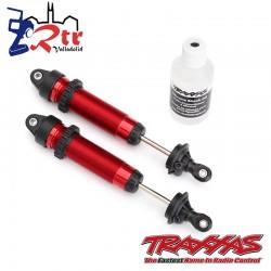 Amortiguadores Traxxas  GTR 139mm aluminio roscado Rojo...