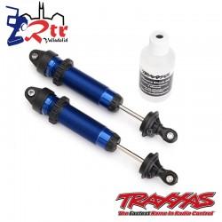 Amortiguadores GTR 139mm aluminio roscado Azul Traxxas TRA8460X