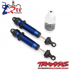 Amortiguadores GTR 134mm aluminio Azul roscado Traxxas TRA8450X