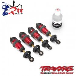 Amortiguadores GTR Aluminio Rojo Ensamblados sin resortes 4 Und TRA5460R
