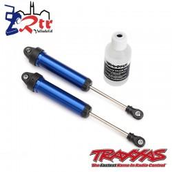 Amortiguadores GTR 134mm aluminio Azul Traxxas TRA8451X