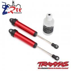 Amortiguadores GTR 134mm aluminio Rojos Traxxas TRA8451R