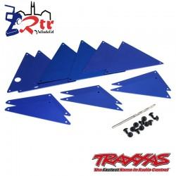Paneles interiores Aluminio Azul chasis tubular Traxxas UDR TRA8434X