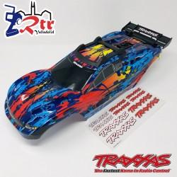 Carrocería Traxxas Rustler 4x4 Pintada  con soportes TRA6717R