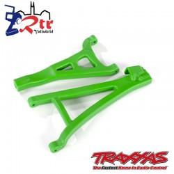 Trapecios delanteros izquierdos Verdes Traxxas Endurecidos TRA8632G