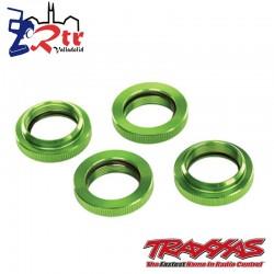Retenedores de resortes GTX Verdes Traxxas X-maxx TRA7767G