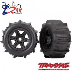 Juego de Ruedas Negras Geode Traxxas 17mm TRA8674