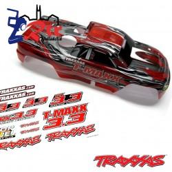 Carroceria Cuerpo Bodyshell Traxxas T-Maxx 3.3 Pintado Rojo/Negro Pegatinas