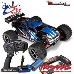 Traxxas E-revo Brushless 1/16 RTR 4X4 bat + carg Azul