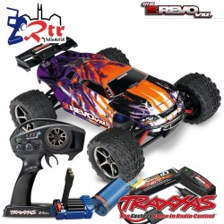 Traxxas E-revo Brushless 1/16 RTR 4X4 bat + carg Anaranjado