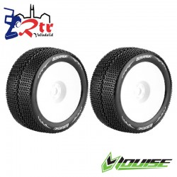 Ruedas Louise 17mm Truggy 1/8 ST-Turbo 1/2 Outset Pegadas Rellenas LR-T3112SWH