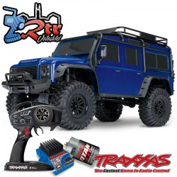 Traxxas TRX-4 4wd 1/10 Scale & Trail Crawler Land Rover Defender Azul