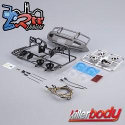 Parachoques LC70 delantero con led Aluminio Gris Killerbody