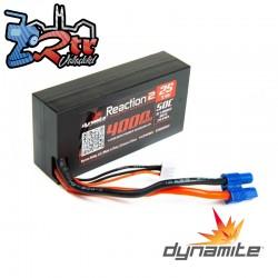 Lipo Dynamite Reaction 4000mAh 7.4V 2S 50C Caja Dura Shorty EC3