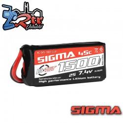 Lipo RC Plus 1500mAh 7.4V 2S 45C conector Xt60