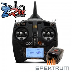 Emisora Spektrum DX6e 6 Canales DSMX 2.4 GHz Receptor AR620