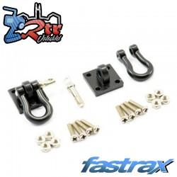 Grilletes de Metal Negros y soporte de montaje 2pc Fastrax FAST2320R