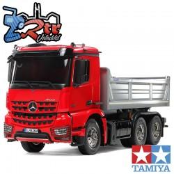 Tamiya Mercedes-Benz Arocs 3348 6x4 Volquete Camión Rojo...