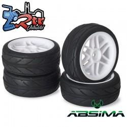 Ruedas de Carretera Absima  6 Spokes blancas 12 mm 1/10