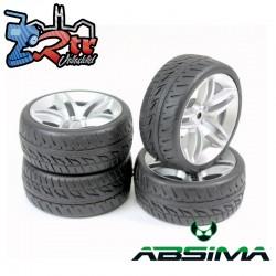 Ruedas de Carretera Absima 10 Spoke/Profile Plata 12 mm 1/10