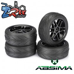Ruedas de Carretera Absima 6 Spoke/Profile Plata 12 mm 1/10