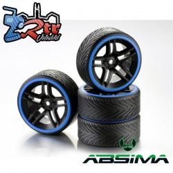 "Ruedas de Drift Absima 5-Spoke ""Profile B"" Aro Azul 12 mm 1/10"