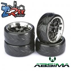 Ruedas de Drift Absima Comb/Profile A Negro Cromo 12 mm 1/10
