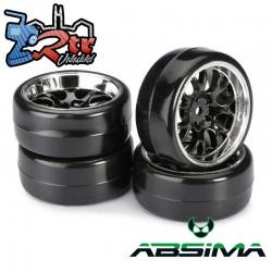 Ruedas de Drift Absima Comb/Profile B Negro Cromo 12 mm 1/10