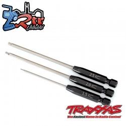 Juego de brocas de velocidad destornillador hexagonal recto de 3 piezas Traxxas TRA8715