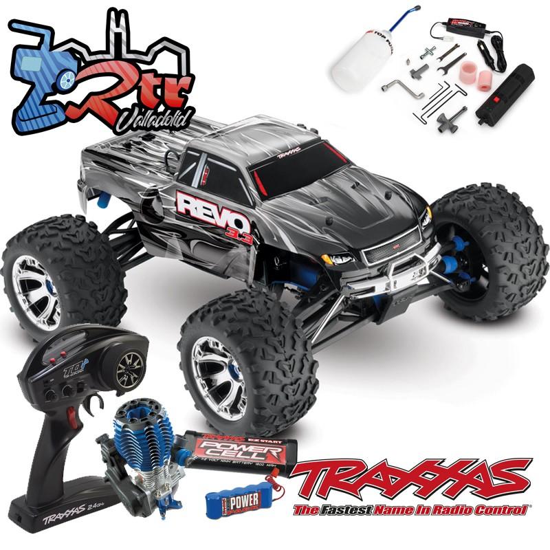 Traxxas Nitro Revo 3.3 TQi TSM RTR 1/10 4wd Plata