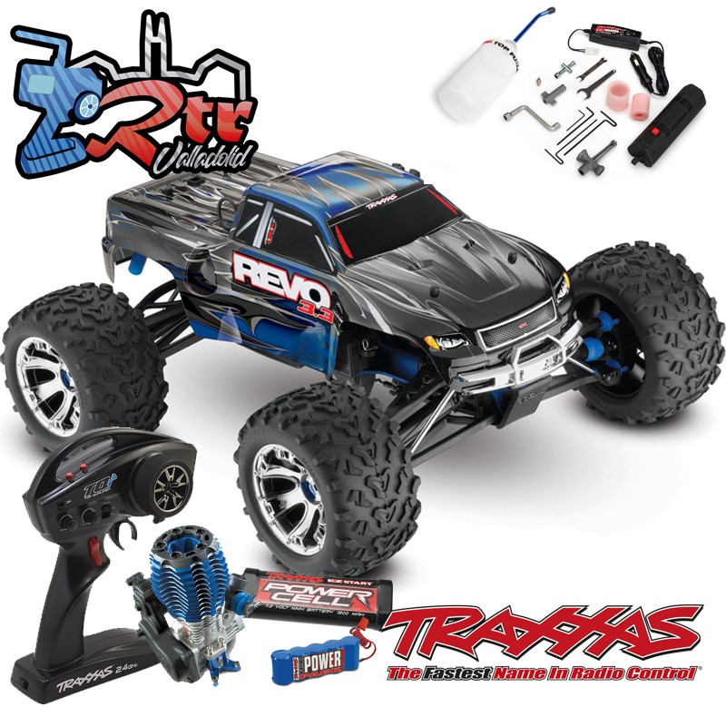 Traxxas Nitro Revo 3.3 TQi TSM RTR 1/10 4wd Azul