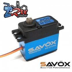 Servo Savox 36Kg Waterproft SW-2210SG Digital High Voltage Piñoneria Metálica