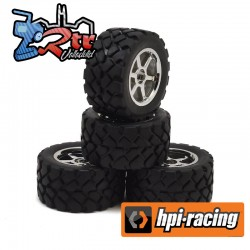 Ruedas 12mm 1/18 HPI Monstertruck 1/18 Recon VT Pegadas y Rellenas