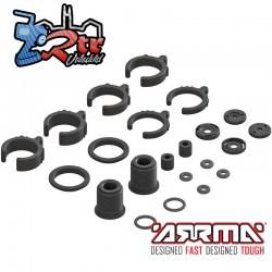 Conjunto de piezas de choque compuesto / junta tórica Arrma AR330451