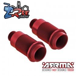 Cuerpo del amortiguador 16x47mm aluminio Rojo Arrma AR330476