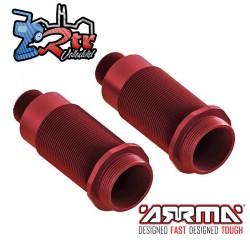 Cuerpo del amortiguador 16x54mm aluminio Rojo Arrma AR330478
