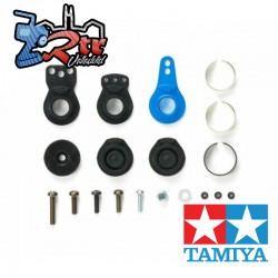 TT-02 Servo Saver Set con bocina de aluminio azul 54799 Tamiya
