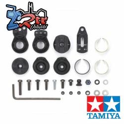 Salva servo aluminio Negro Tamiya 54799
