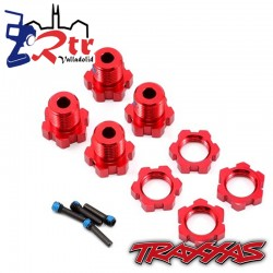 Hexágonos Originales Traxxas TRA5353R Rojos